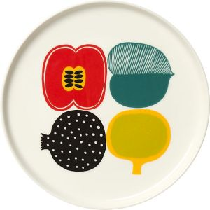 marimekko-kompotti-multi-and-white-plate