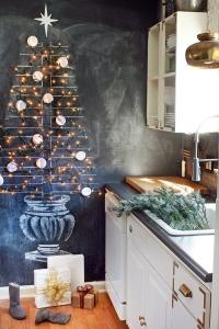 festive kitchen blackboard